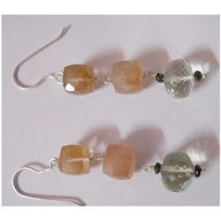 Natural 41.15ct Semi Precious Earring .925 Sterling