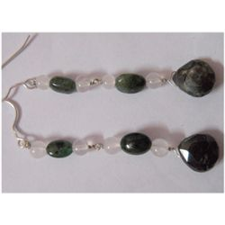 Natural 24.65ct Emerald/Semi Precious Earring .925 Ster