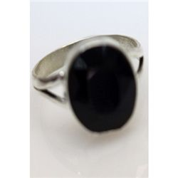 Natural 22.03 ctw Sapphire Oval Ring .925 Sterling