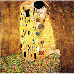 The Kiss- Klimt - Limited Edition on Canvas