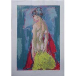 Jan De Ruth, After the Bath, Signed Lithograph