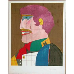 Richard Lindner, Profile, Signed Lithograph