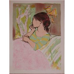 Alexander Dobkin, Young Girl, Signed Lithograph