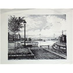 Gregory Johnson, Savannah Vista, Signed Litho