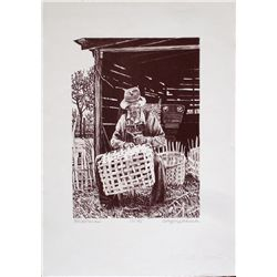 Gregory Johnson, Basketman, Signed Litho