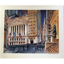 Kamil Kubik, Wall & Broad At Night, Signed Serigraph