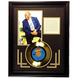 B.B. King  Giclee with Gold Record