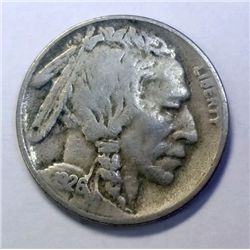 1926-S Buffalo Nickel Nice VF, Sharp horn, nicely circulated