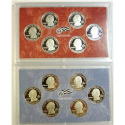 2009 STATE QUARTER PROOF SETS 1 CLAD, 1 SILVER