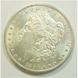 1896-O $1, scarce O mint Frosty Ch BU 60+ beautiful!