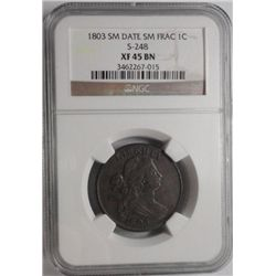 1803  Sm Dt Sm fraction S-248 large penny NGC45BN