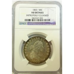 1803  Bust half $  NGCAU cleaned  AU GS bid = $4250