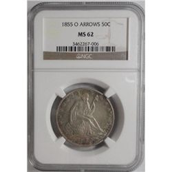 1855O  Seated  half $  NGC  62----63 GS = $1200