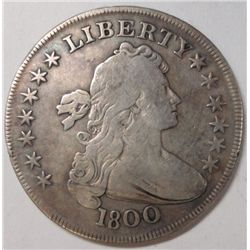 1800 Bust Dollar Nice F/VF problem free, no adjustment marks, or damage