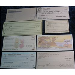69. (5) Advertising Checks & (2) early 1900 Receipts. All unused.