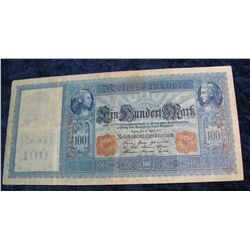 82. 1910 Germany 100 Mark Banknote.