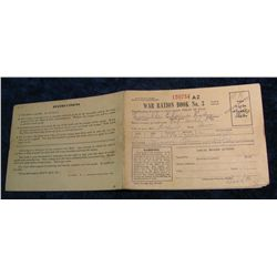 "83. World War II ""War Ration Book No. 3"" from Fairfield, Iowa."