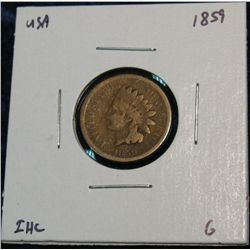 892. 1859 Indian Head Cent. G.
