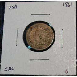 895. 1861 Indian Head Cent. G.