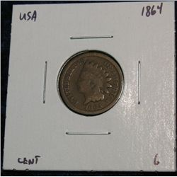 901. 1864 Br. Indian Head Cent. G.