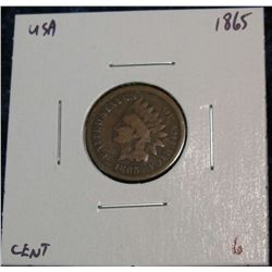 906. 1865 Indian Head Cent. G.