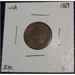 909. 1869 Indian Head Cent. G.
