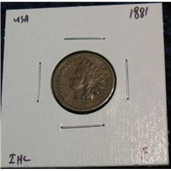 918. 1881 Indian Head Cent. F.
