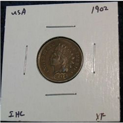928. 1902 Indian Head Cent. EF.