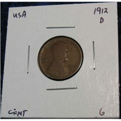 938. 1912D Lincoln Cent. G.