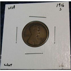 939. 1916S Lincoln Cent. VG.