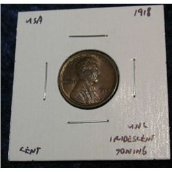 940. 1918 Lincoln Cent. Brown Unc. Some Nice Colors.