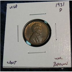 942. 1931D Lincoln Cent. Red & Brown Unc.