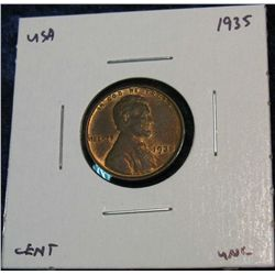 945. 1935 Lincoln Cent. Red & Brown Unc.
