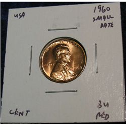 949. 1960 Small Date Lincoln Cent. BU.