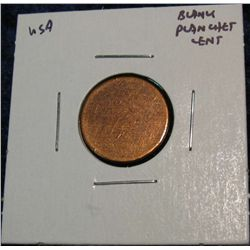 953. Blank Lincoln Cent Planchet. Unc.