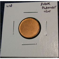 954. Blank Lincoln Cent Planchet. Unc.
