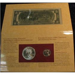 682. The Thomas Jefferson Coinage and Currency Set.
