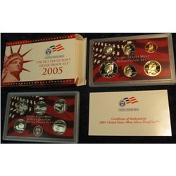 683. 2005 S U.S. Silver Proof Set. Original as issued.