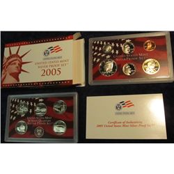 684. 2005 S U.S. Silver Proof Set. Original as issued.