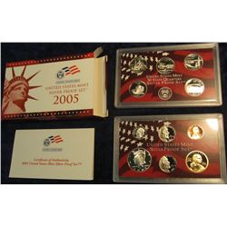 686. 2005 S U.S. Silver Proof Set. Original as issued.