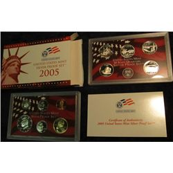 687. 2005 S U.S. Silver Proof Set. Original as issued.