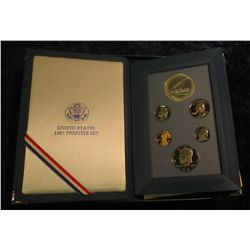 689. 1987 S U.S. Silver Prestige Proof Set. Original as issued.