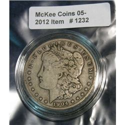 1232. 1904S Morgan Dollar. F.