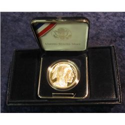 700. 2001 P American Buffalo Commemorative Silver Dollar. Proof. In original box as issued.