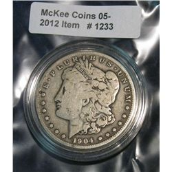 1233. 1904S Morgan Dollar. VG.