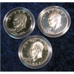 1235. (2) 1976S & 1977S Eisenhower Dollars. Clad Proof.