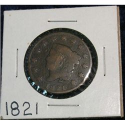 1256. 1821 US Large Cent. G.