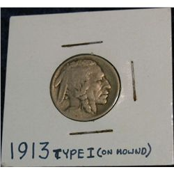 1260. 1913P Type-1 Buffalo Nickel. G.