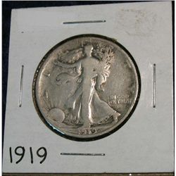 1266. 1919 Walking Liberty Half. G.