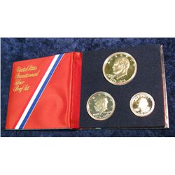 1278. 1976 3-Piece Bicentennial Silver Proof Set.
